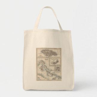 Vintage Map of Various Caribbean Islands (1906) Tote Bag