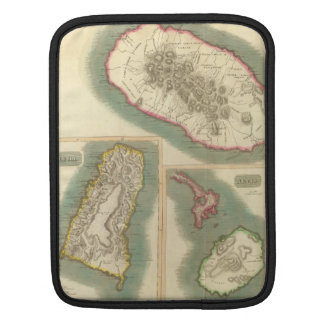 Vintage Map of Various Islands of The Caribbean Sleeve For iPads