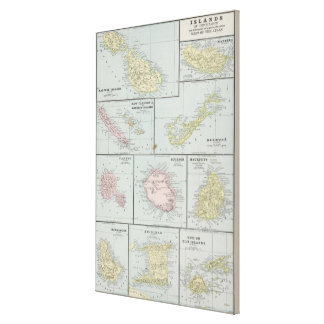 Vintage Map of Various Tropical Islands (1901) Canvas Print