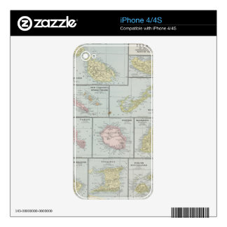 Vintage Map of Various Tropical Islands (1901) Skin For The iPhone 4