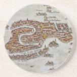 Vintage Map of Venice (1649) Beverage Coaster