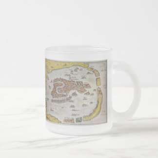 Vintage Map of Venice (1649) Frosted Glass Coffee Mug