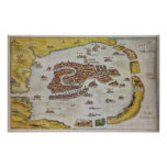 Vintage Map of Venice (1649) Poster