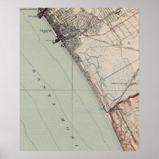 Venice Beach Posters Zazzle - Venice beach map