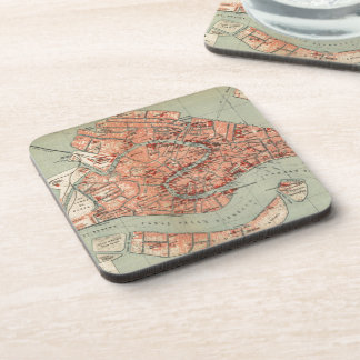 Vintage Map of Venice Italy (1920) Coaster