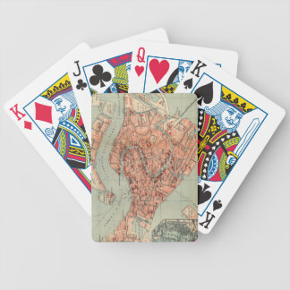 Vintage Map of Venice Italy (1920) Playing Cards