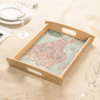 Vintage Map of Venice Italy (1920) Serving Tray