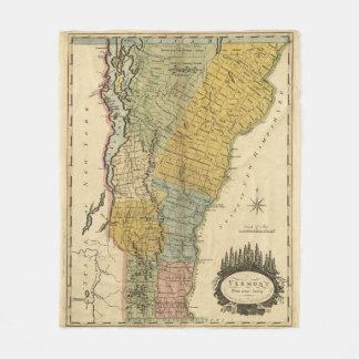 Vintage Map of Vermont (1814) Fleece Blanket