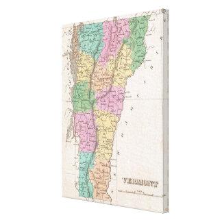 Vintage Map of Vermont (1827) Canvas Print