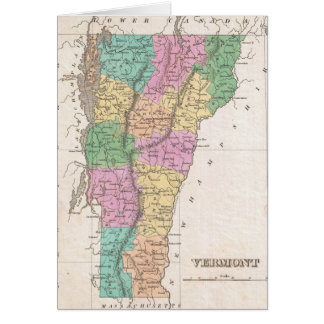 Vintage Map of Vermont (1827) Card