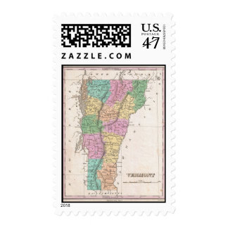 Vintage Map of Vermont (1827) Postage