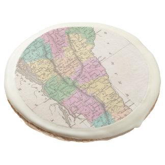 Vintage Map of Vermont (1827) Sugar Cookie