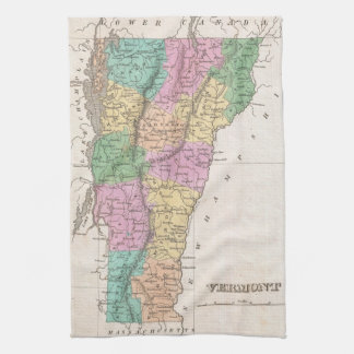 Vintage Map of Vermont (1827) Towel