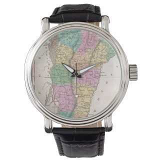 Vintage Map of Vermont (1827) Wrist Watch