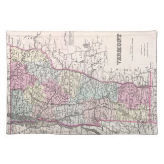 Vintage Map of Vermont (1855) Cloth Placemat