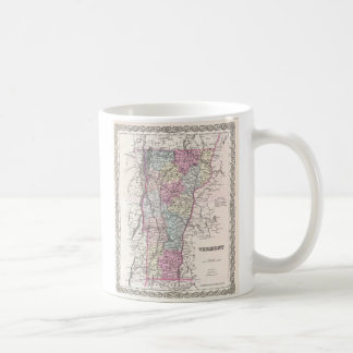 Vintage Map of Vermont (1855) Coffee Mug
