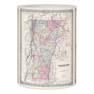 Vintage Map of Vermont (1855) Flameless Candle