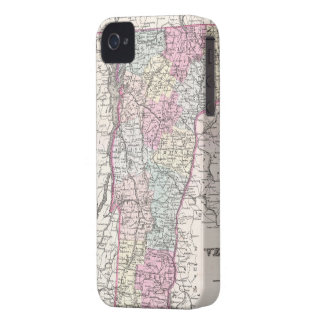 Vintage Map of Vermont (1855) iPhone 4 Case