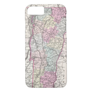 Vintage Map of Vermont (1855) iPhone 8/7 Case