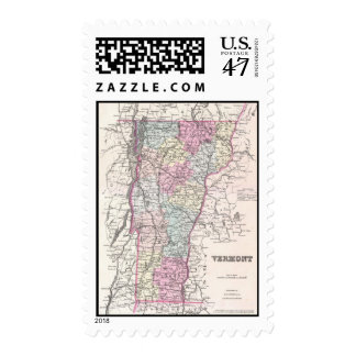 Vintage Map of Vermont (1855) Postage