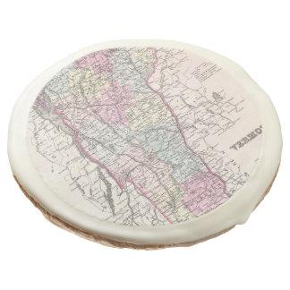 Vintage Map of Vermont (1855) Sugar Cookie