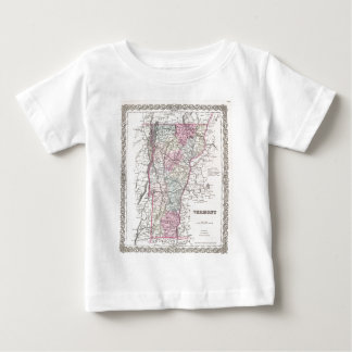 Vintage Map of Vermont (1855) T Shirt