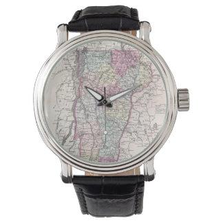 Vintage Map of Vermont (1855) Wrist Watches