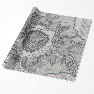 Vintage Map of Vienna Austria (1780) Wrapping Paper