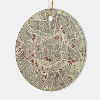 Vintage Map of Vienna Austria (1883) Ceramic Ornament