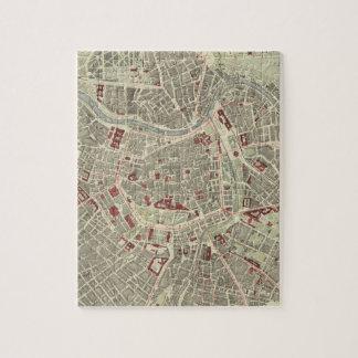 Vintage Map of Vienna Austria (1883) Jigsaw Puzzle
