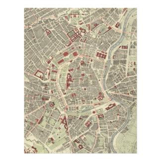 Vintage Map of Vienna Austria (1883) Letterhead
