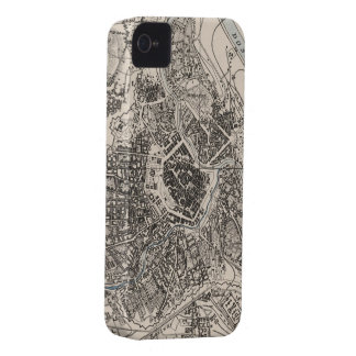 Vintage Map of Vienna Austria (1906) Case-Mate iPhone 4 Case