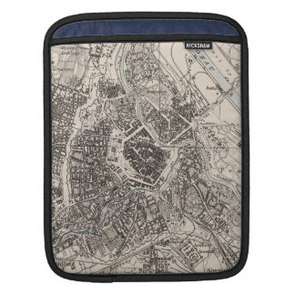 Vintage Map of Vienna Austria (1906) Sleeves For iPads