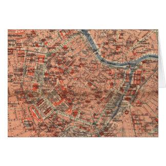 Vintage Map of Vienna Austria (1920) Greeting Card