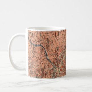 Vintage Map of Vienna Austria (1920) Coffee Mug