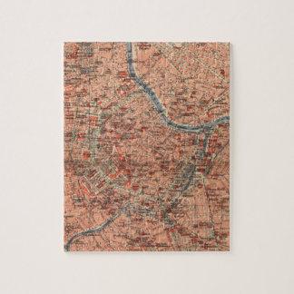 Vintage Map of Vienna Austria (1920) Jigsaw Puzzle