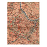 Vintage Map of Vienna Austria (1920) Postcard