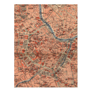 Vintage Map of Vienna Austria (1920) Postcard
