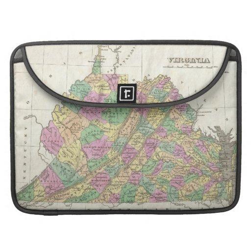 Vintage Map of Virginia (1827) Sleeves For MacBooks