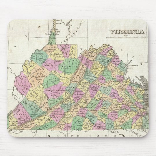 Vintage Map of Virginia (1827) Mouse Pad