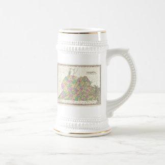 Vintage Map of Virginia (1827) Coffee Mugs