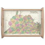 Vintage Map of Virginia (1827) Service Trays
