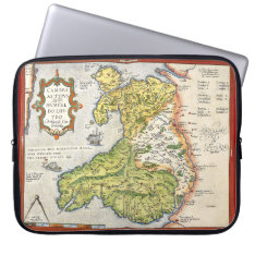 Vintage Map Of Wales And Anglesey 1579 15 Ins Laptop Sleeve at Zazzle
