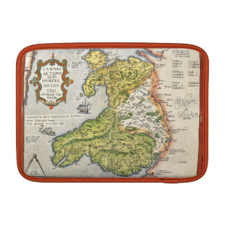 Vintage Map of Wales and Anglesey 1579 Air 11ins MacBook Air Sleeve