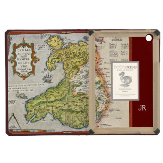 Vintage Map of Wales and Anglesey 1579 iPad Mini Cover