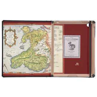 Vintage Map of Wales and Anglesey 1579 Cover For iPad