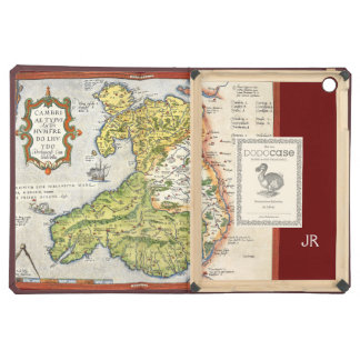 Vintage Map of Wales and Anglesey 1579 Cover For iPad Air