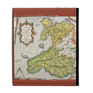 Vintage Map of Wales and Anglesey 1579 iPad Case