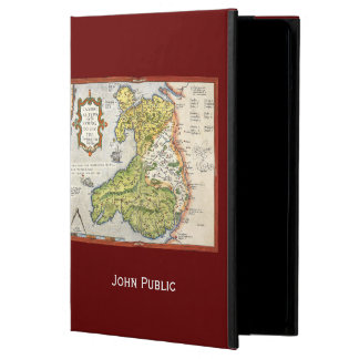 Vintage Map of Wales and Anglesey 1579 iPad Air Cover