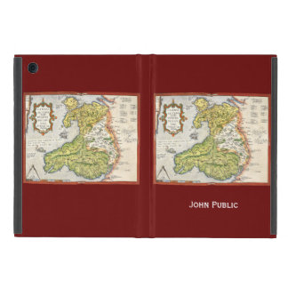 Vintage Map of Wales and Anglesey 1579 Cover For iPad Mini